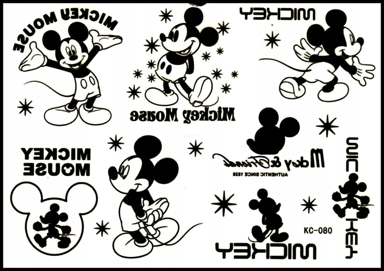 Tatuaż Zmywalny Mickey Minnie Myszka Miki Anime At