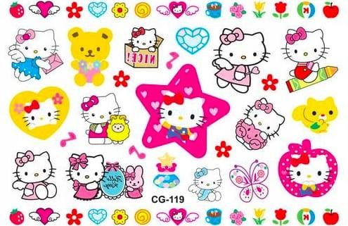 Tatuaż Naklejki Dla Dzieci Hello Kitty Kotki Bajka