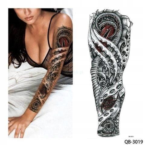Tatuaż Tymczasowy Zmywalny Rękaw Oko Saurona Kręgi