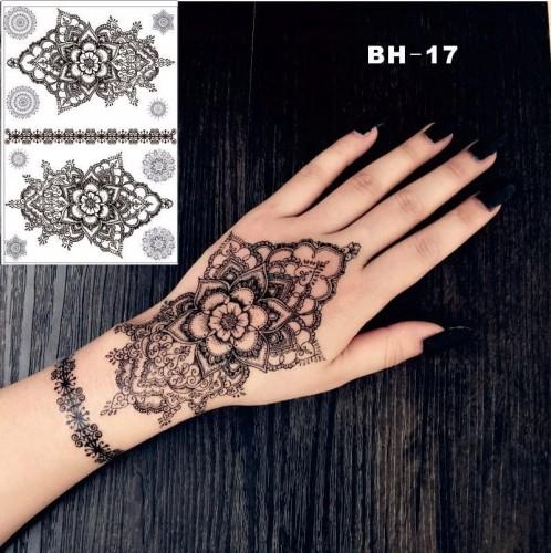 Tatuaż Tymczasowy Zmywalny Mehendi Hinduski Dłonie