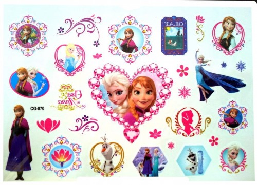 Tatuaż Zmywalny Naklejka Kraina Lodu Frozen Elsa