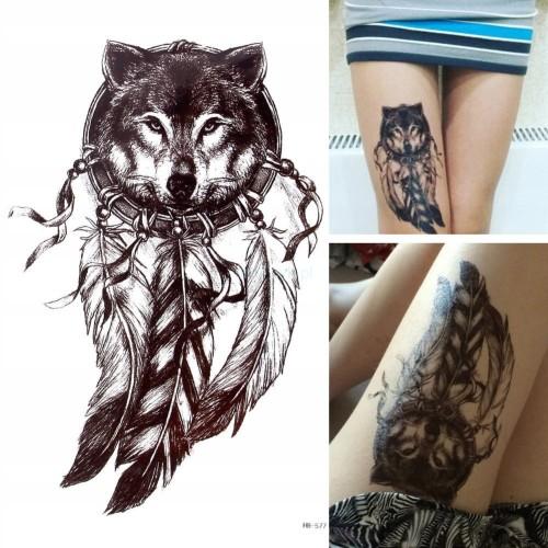 Tatuaż Tymczasowy Zmywalny łapacz Snów Catcher Art