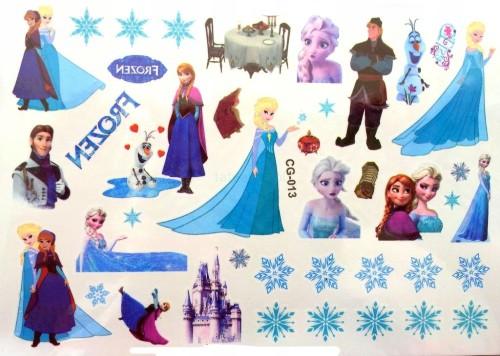 Tatuaż Naklejka Kraina Lodu Frozen śnieżki Książe