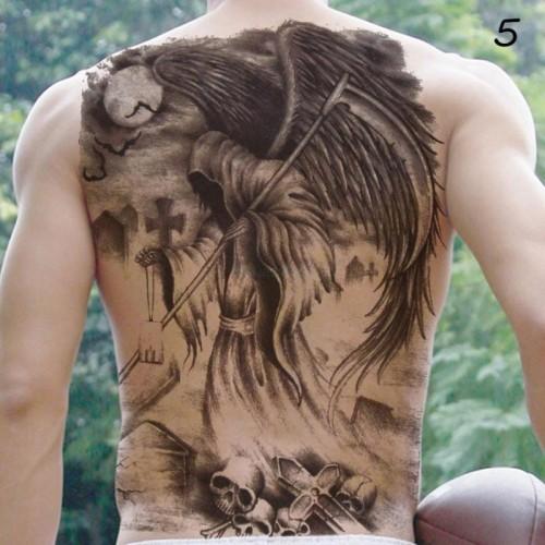 Tatuaż Zmywalny Plecy Duży Anioł śmierć Die 45cm