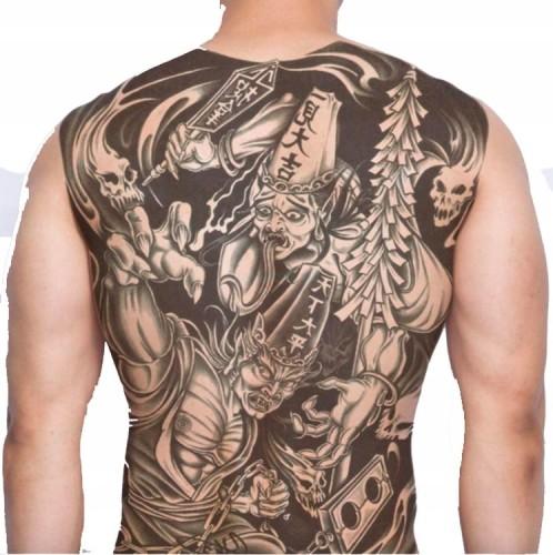 Tatuaż Zmywalny Plecy Duży Budda Szaman Wojownik