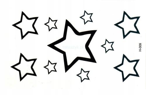 Tatuaż Tymczasowy Gwiazdki Gwiazda Stars