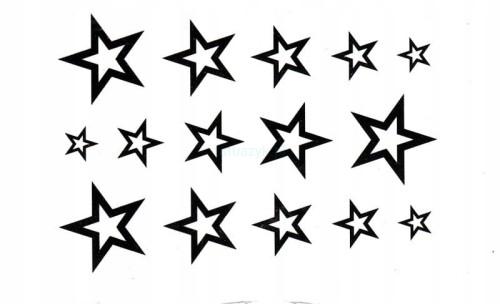 Tatuaż Tymczasowy Stars Gwiazdy Gwiazdeczki Niebo