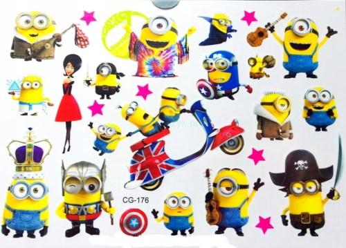 Tatuaż Naklejki Dzieci Minionki Avengers Iron Man